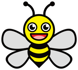 smiling-honey-bee-sticker-156167526711172094.png